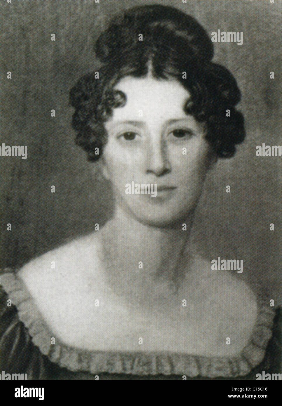 Mary Ann Mantell, who with her husband Gideon Algernon Mantell (1790-1852), discovered specimens of Iguanodon teeth - Stock Image