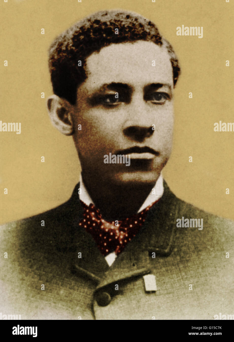 Jan Ernst Matzeliger (September 15, 1852 - August 24, 1889) was an African-American inventor in the shoe industry. - Stock Image