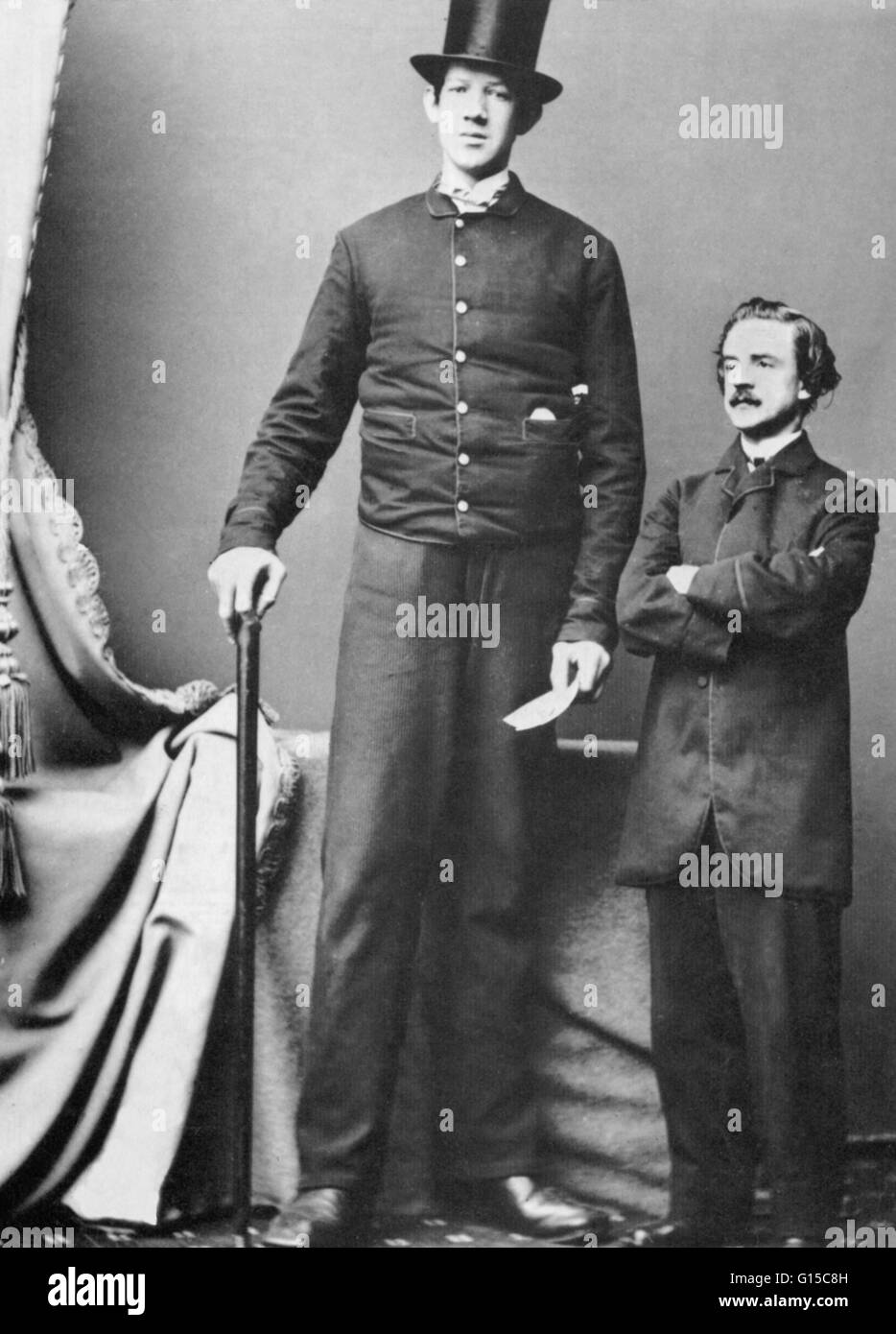 Undated photograph of 'The Irish Giant'. James Hugh Murphy Jr. (1842-1875) was known as the Irish Giant - Stock Image