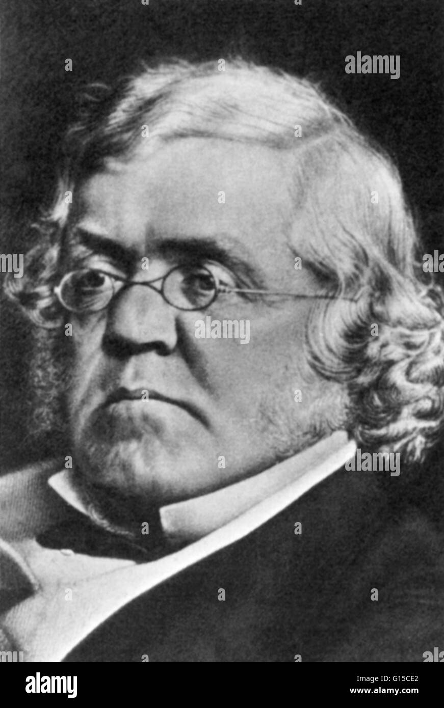 William Makepeace Thackeray (July 18, 1811 - December 24, 1863) was an English novelist of the 19th century. He Stock Photo