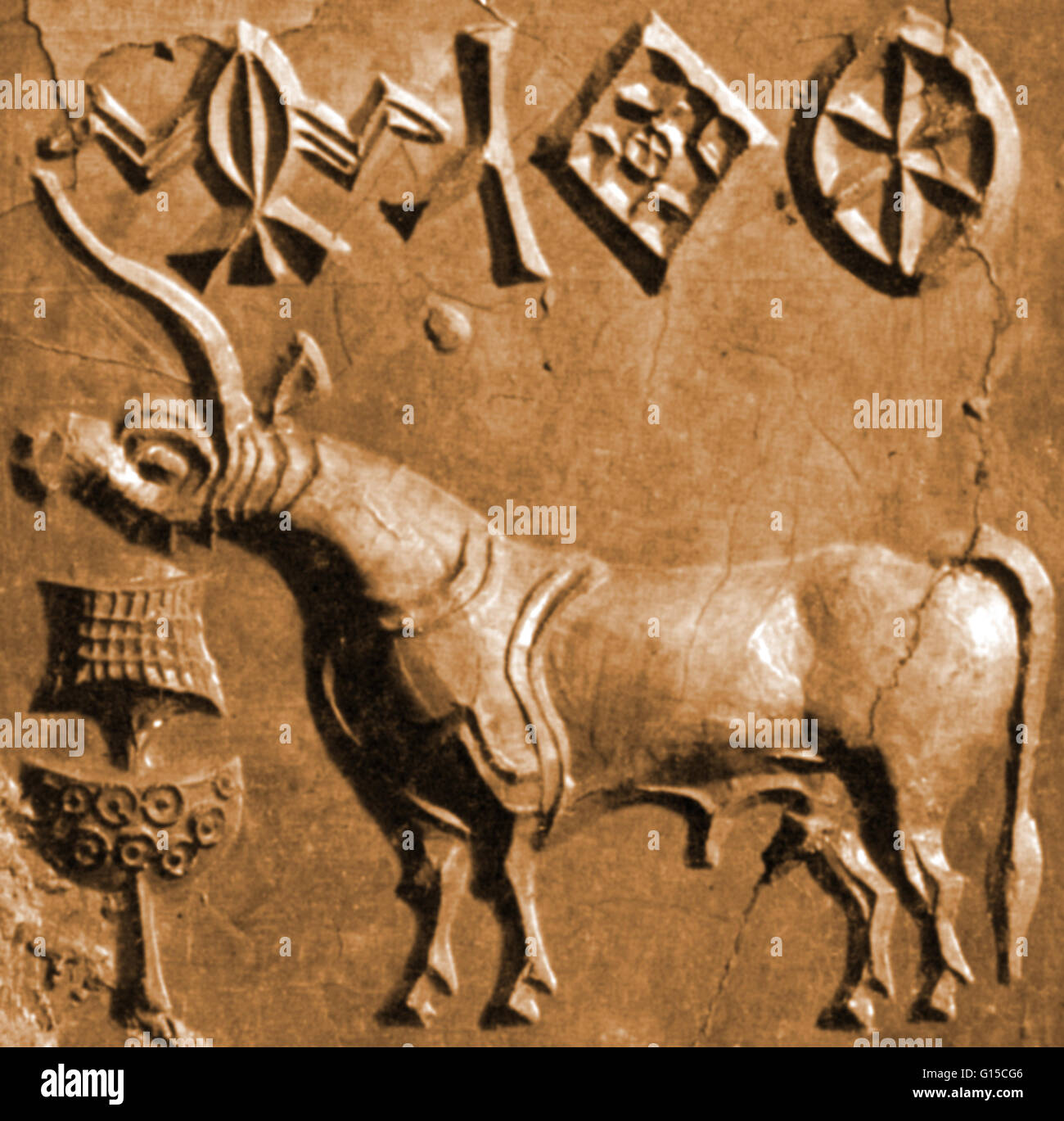 A Seal With A Unicorn Relief, Found In Mohenjo-Daro (Mound