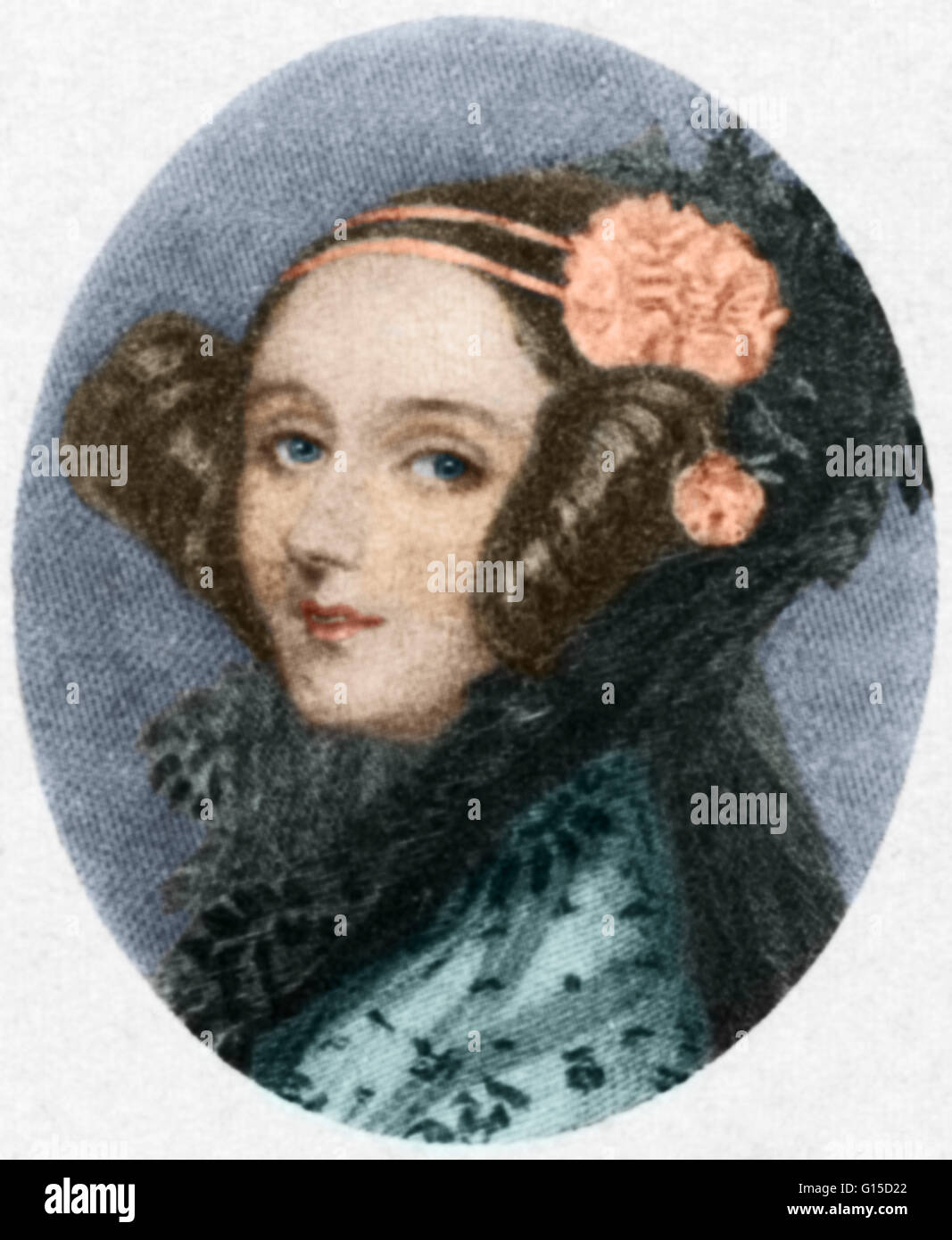 Augusta Ada King, Countess of Lovelace (December 10, 1815 - November 27, 1852), born Augusta Ada Byron and now commonly - Stock Image