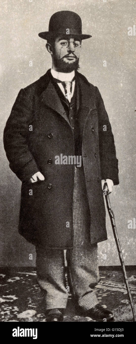Henri de Toulouse-Lautrec (November 24, 1864 - September 9, 1901) was a French painter, printmaker, draughtsman - Stock Image
