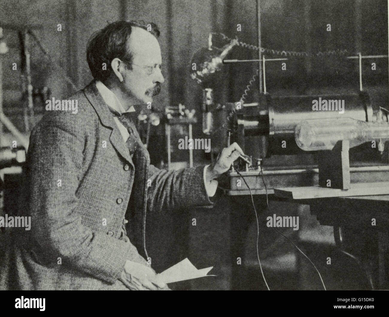 Joseph John Thomson (December 18, 1856 - August 30, 1940) was an English physicist. He is credited with discovering Stock Photo