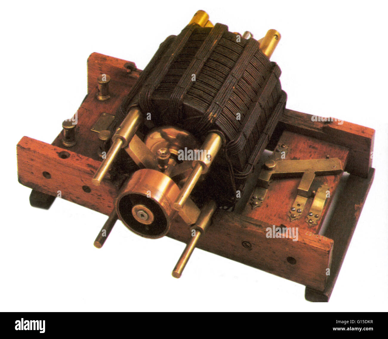 Early induction motor. - Stock Image