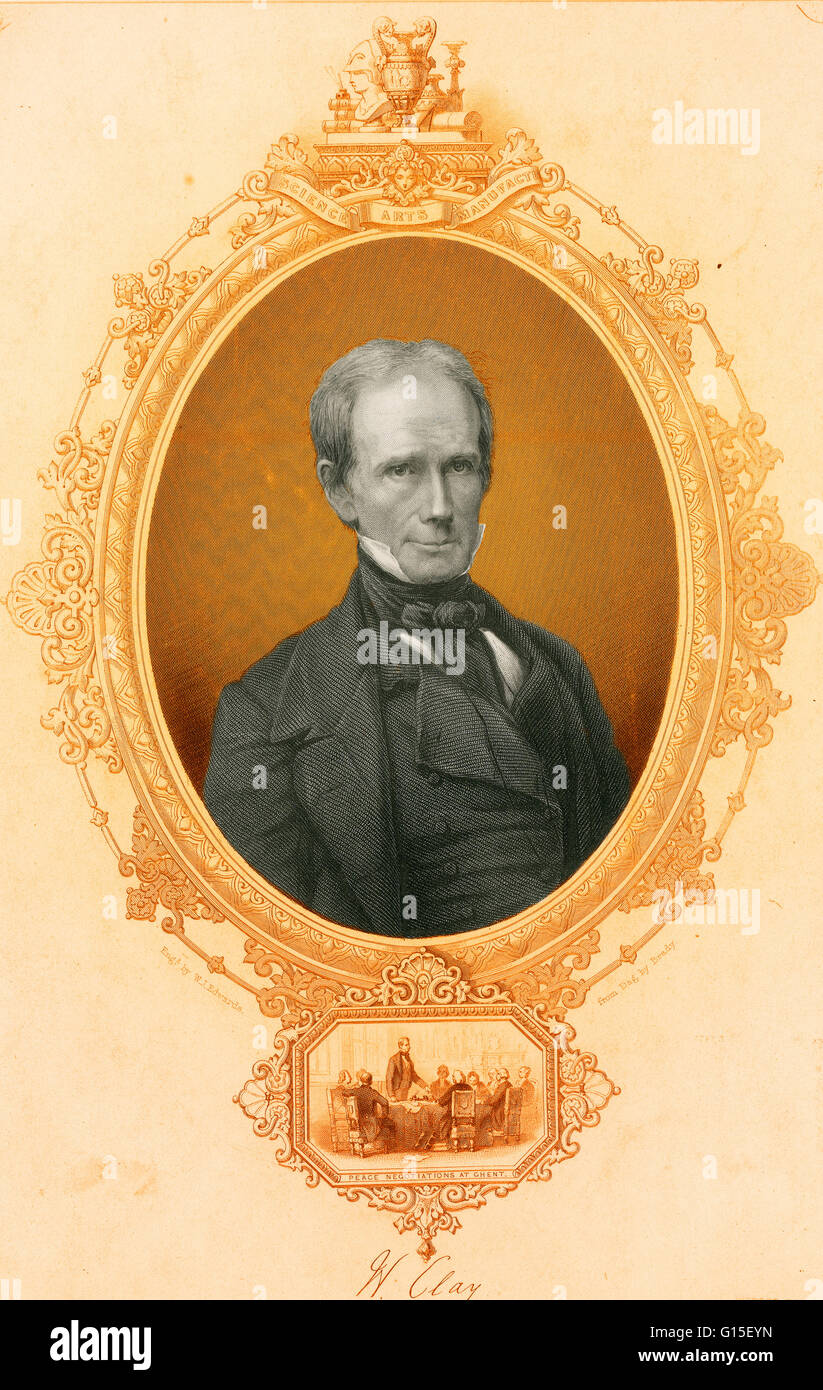 Henry Clay, Sr. (April 12, 1777 - June 29, 1852) was an American planter, statesman and orator who represented Kentucky - Stock Image