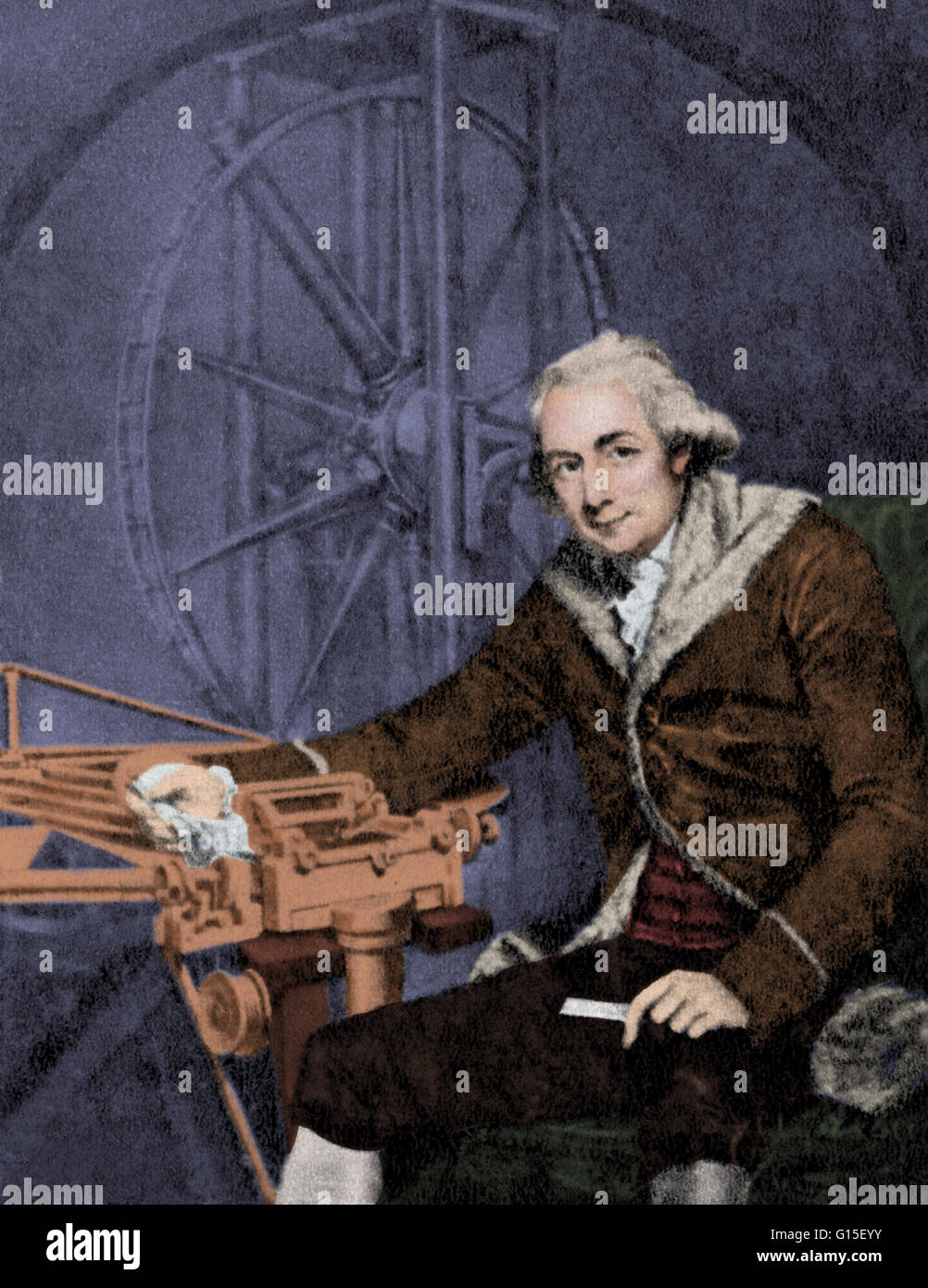 Jesse Ramsden (October 6, 1735 - November 5, 1800) was an English mathematician, astronomical and scientific instrument Stock Photo