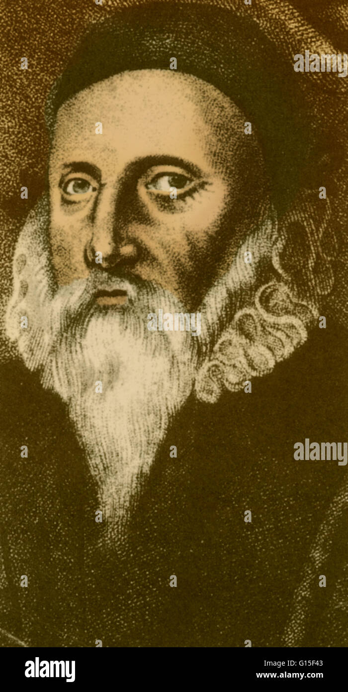 John Dee (1527-1608 or 1609) was an English mathematician, astronomer, astrologer, occultist, navigator, imperialist - Stock Image