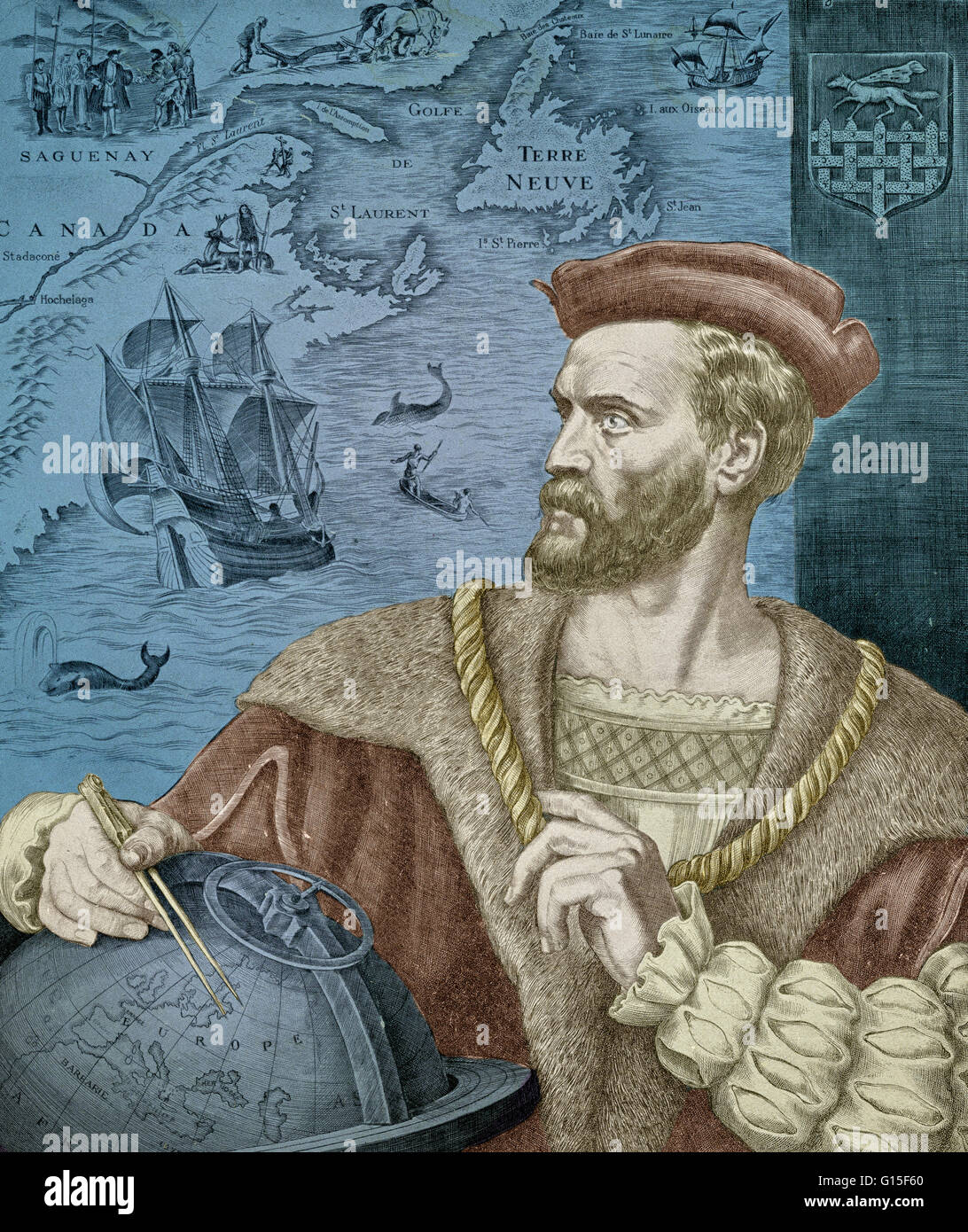 Jacques Cartier (1491-1557) was a French explorer who claimed Canada for  France. He was the first European to describe and map the Gulf of Saint  Lawrence ...