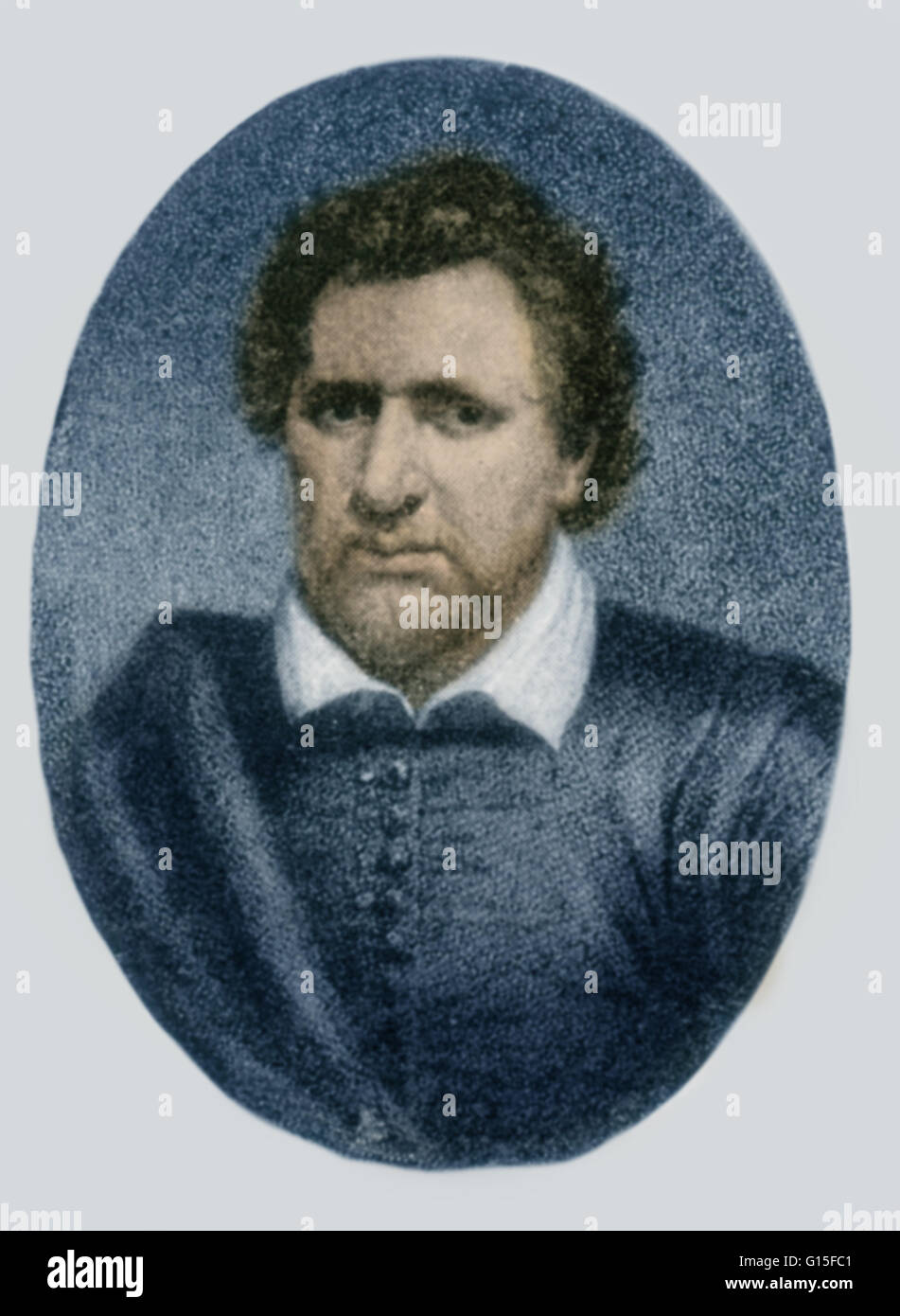 Benjamin Jonson ( June 11, 1572 - August 6, 1637) was a, English playwright, poet, and literary critic, of the 17th - Stock Image
