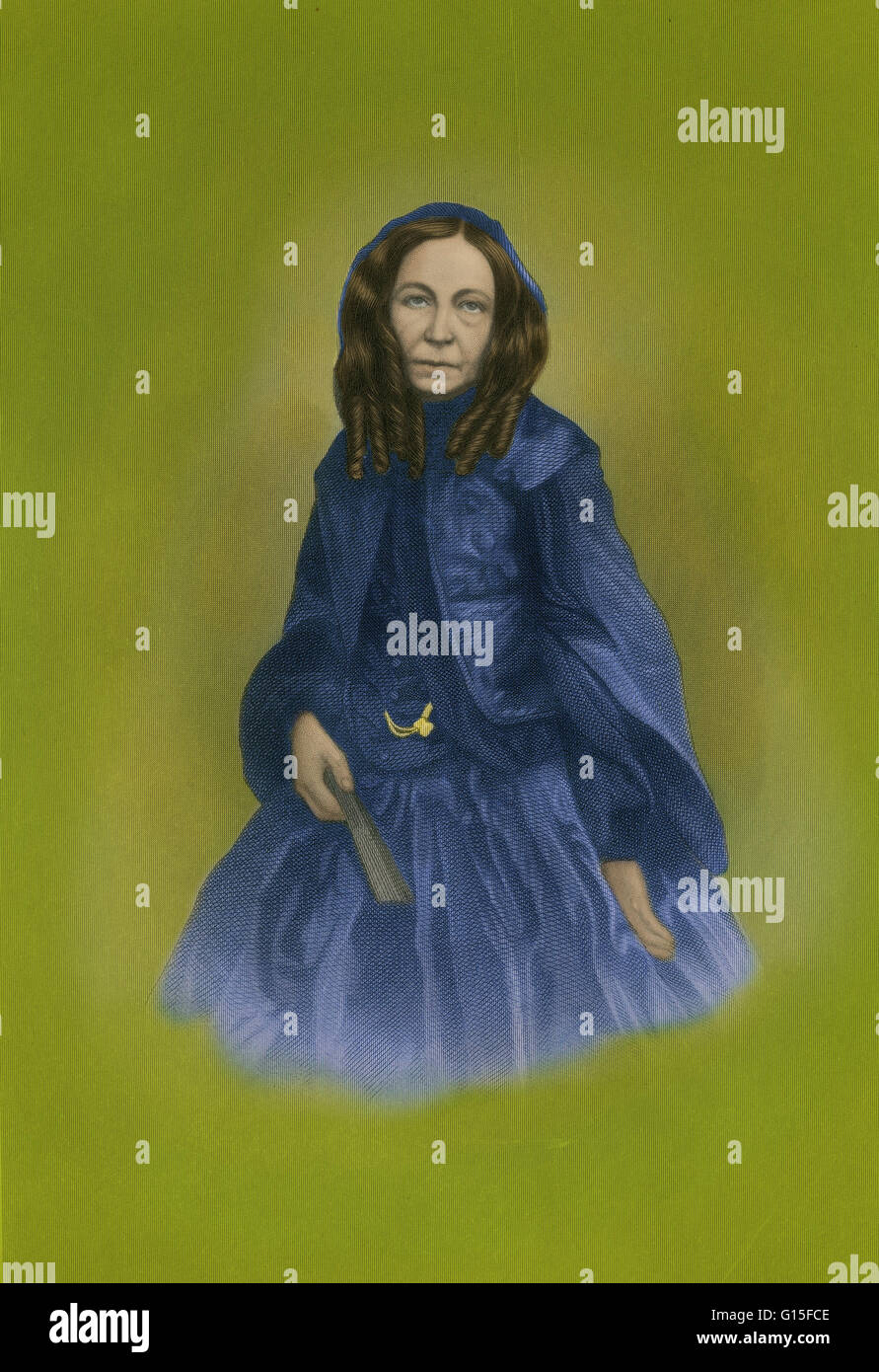 Elizabeth Barrett Browning (March 6, 1806 - June 29, 1861) was one of the most prominent English poets of the Victorian - Stock Image