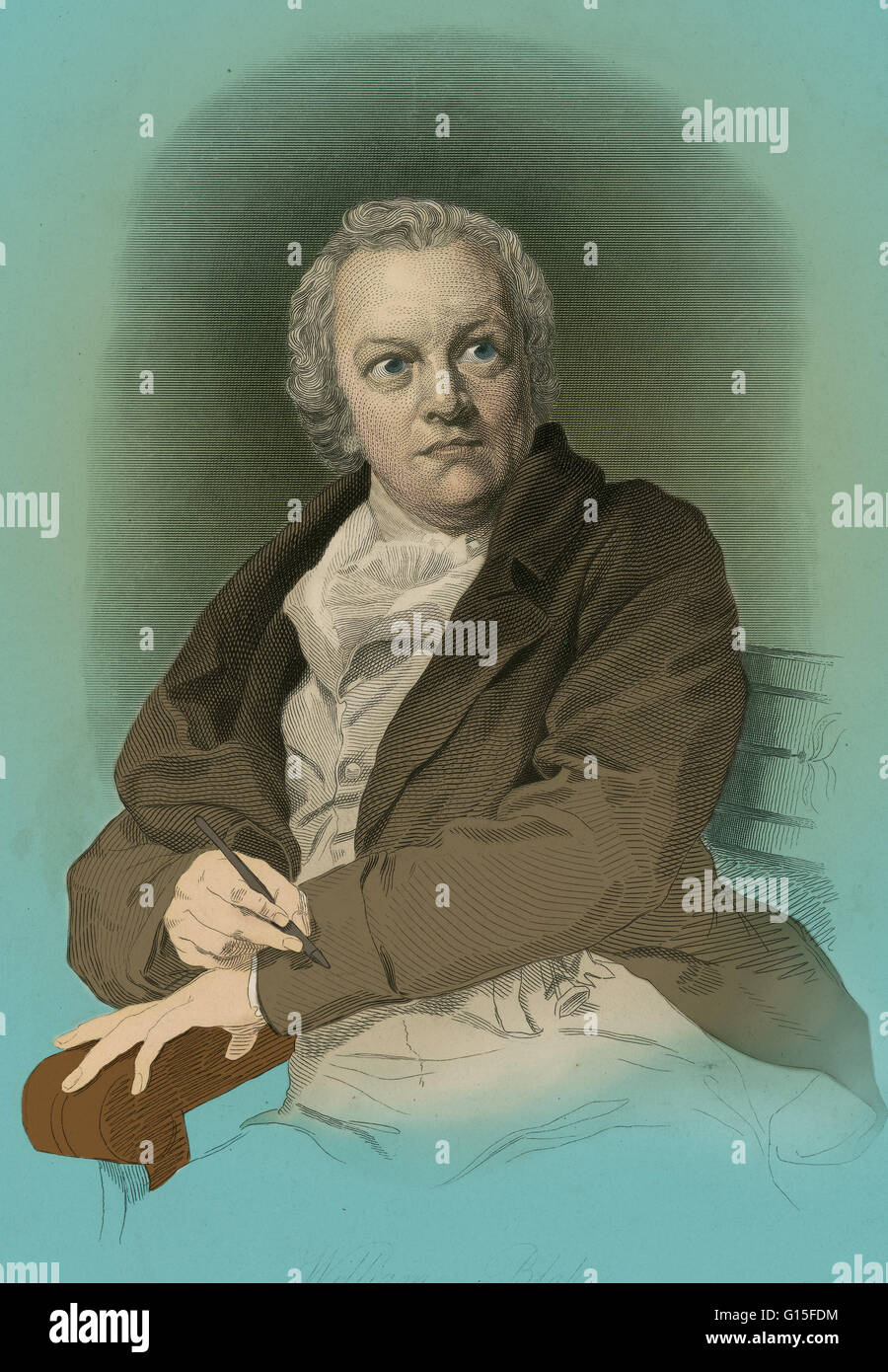 William Blake (1757-1827) was an English poet, painter, and printmaker. Blake is considered a seminal figure in - Stock Image