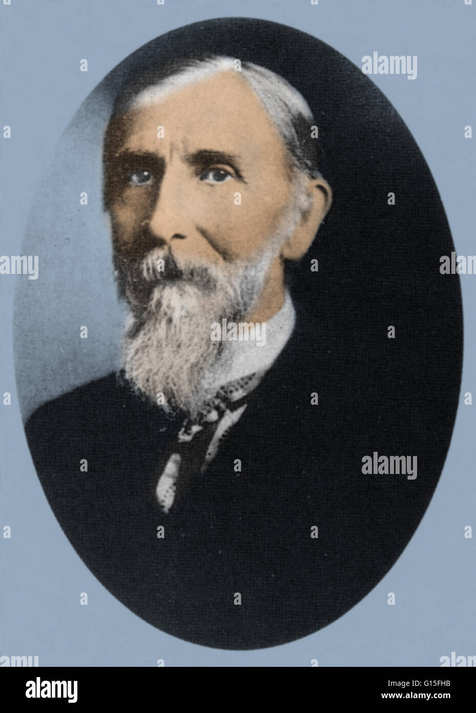 Milton Bradley (1836-1911), an American game pioneer, was credited by many with launching the board game industry - Stock Image