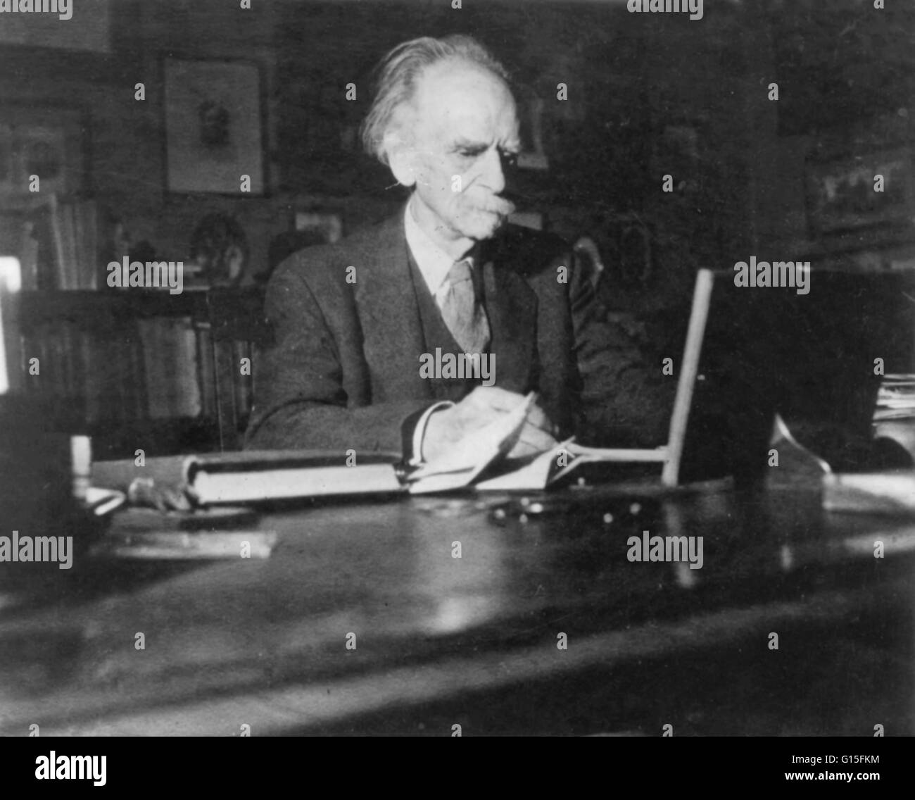 """Franz Boas (1858-1942) was a German-American anthropologist and a pioneer of modern anthropology who has been called the """"Father of American Anthropology"""" and """"the Father of Modern Anthropology."""" Like many such pioneers, he trained in other disciplines; h Stock Photo"""