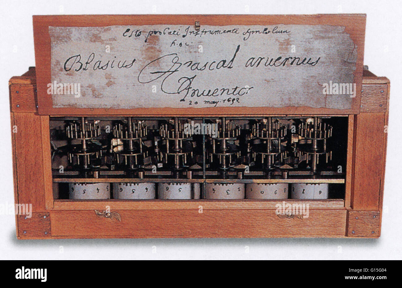 First digital calculator (pascal's calculator) by 18-year-old.