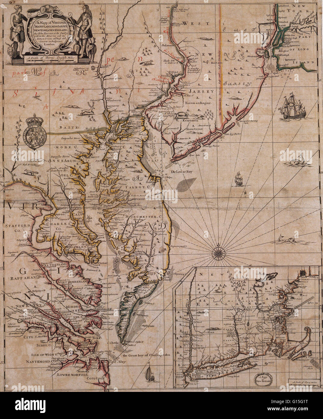 Map Of Virginia Maryland New Jersey New York And New England At