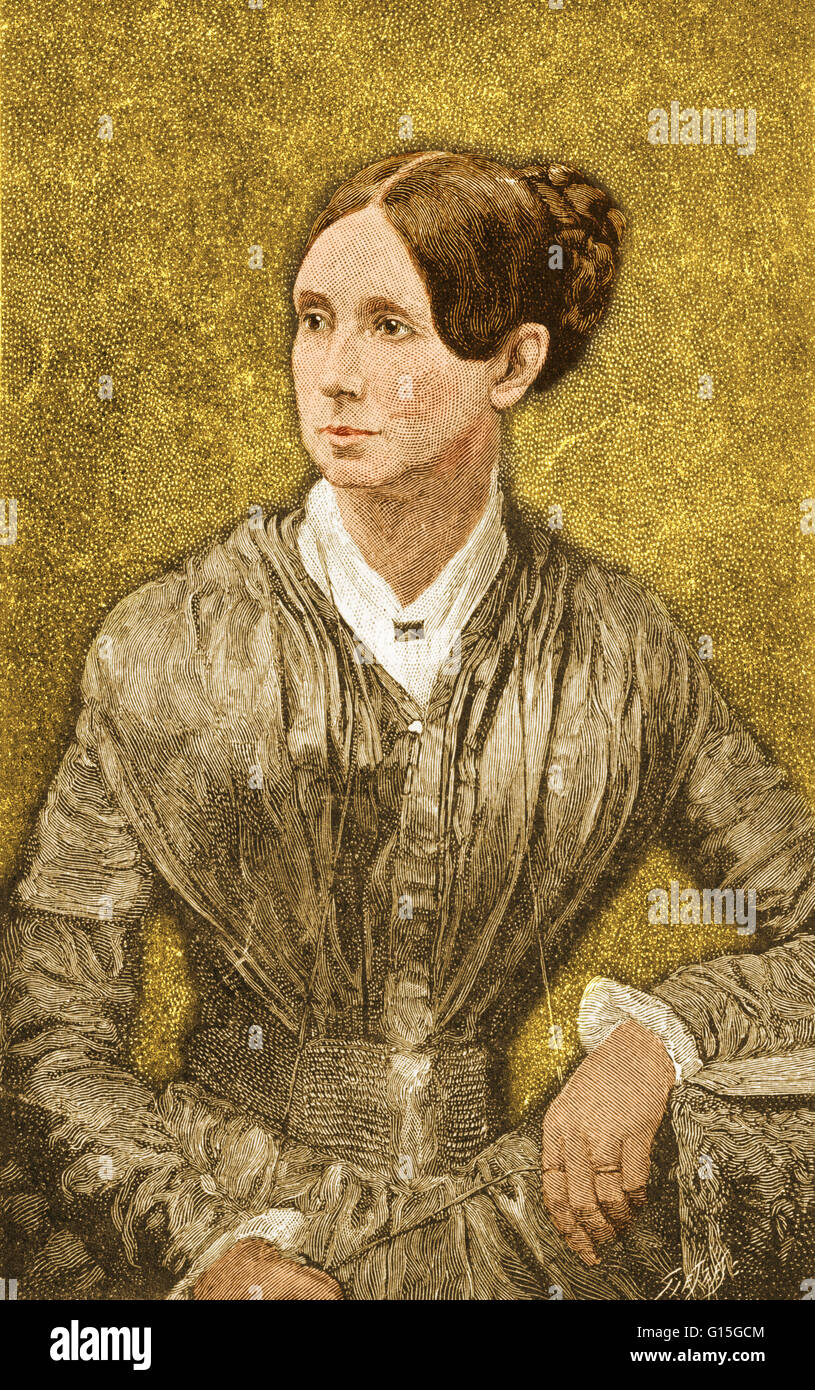 Dorothea Lynde Dix (April 4, 1802 - July 17, 1887) was an American activist on behalf of the indigent insane who, - Stock Image