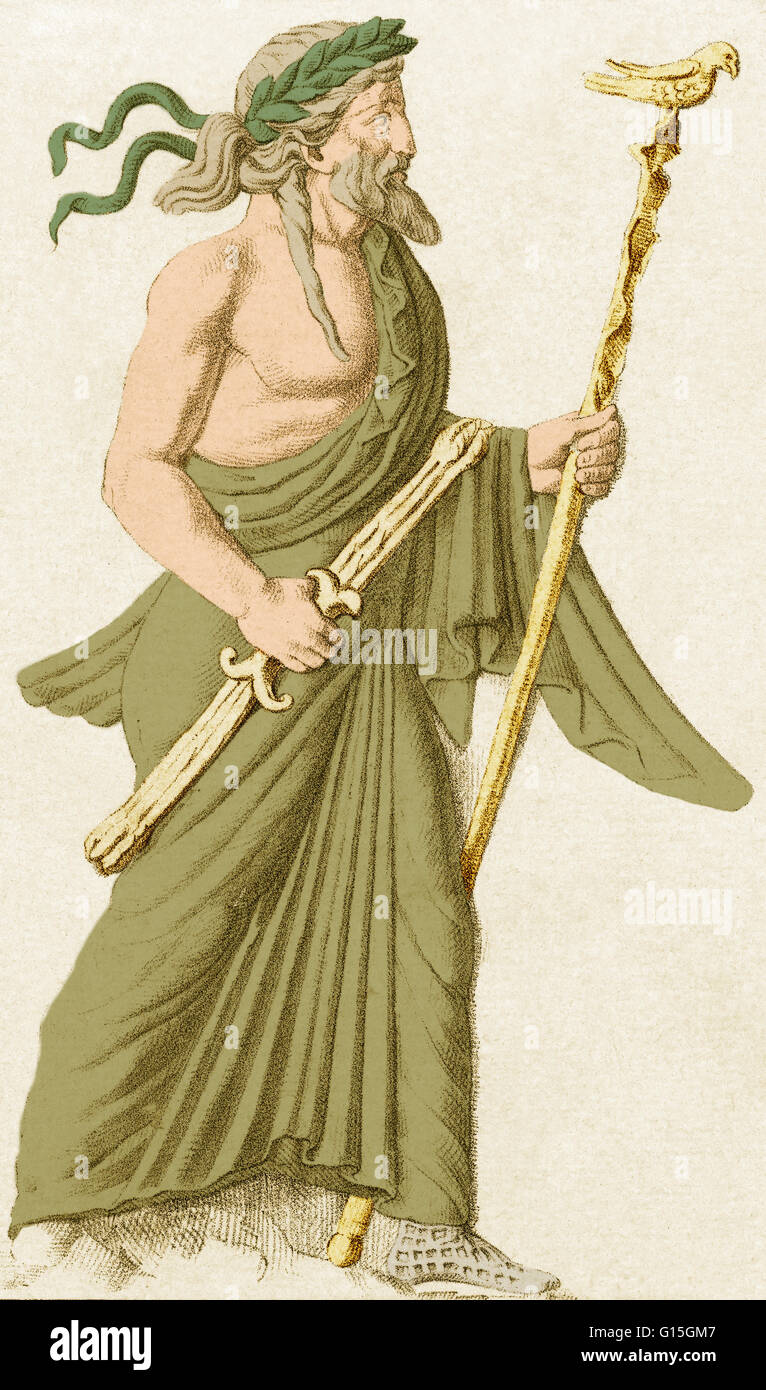 In ancient Roman religion and myth, Jupiter or Jove is the king of the gods and the god of sky and thunder. Jupiter - Stock Image