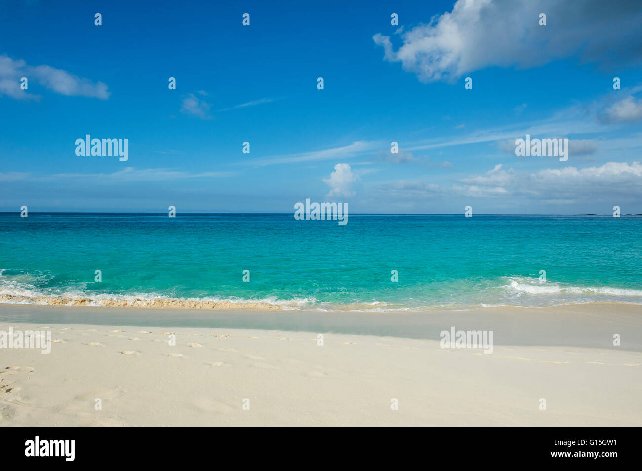 Cabbage Beach, Paradise island, Nassau, New Providence, Bahamas, Caribbean - Stock Image