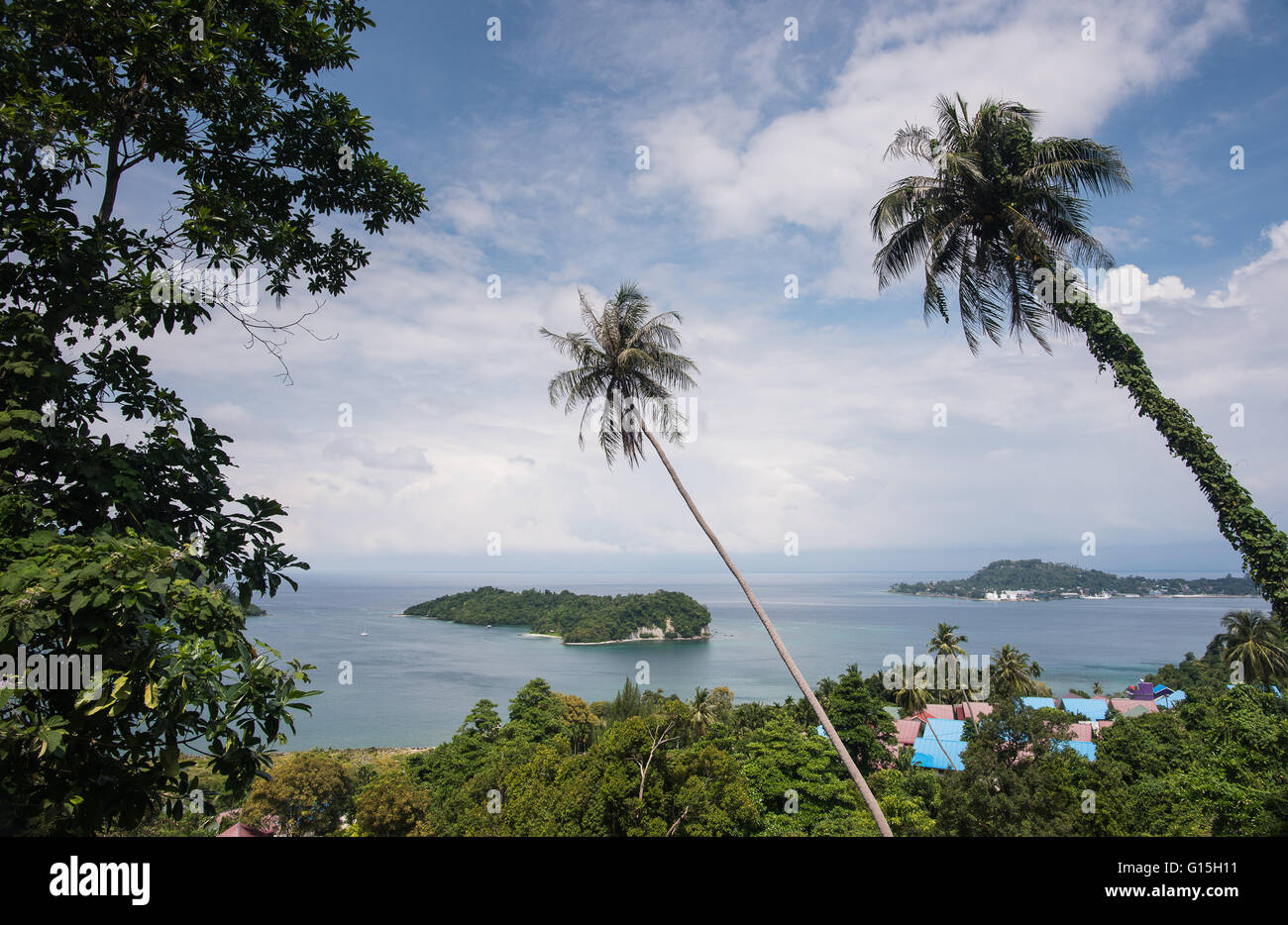 Viewpoint in Pulua Weh, Sumatra, Indonesia, Southeast Asia - Stock Image