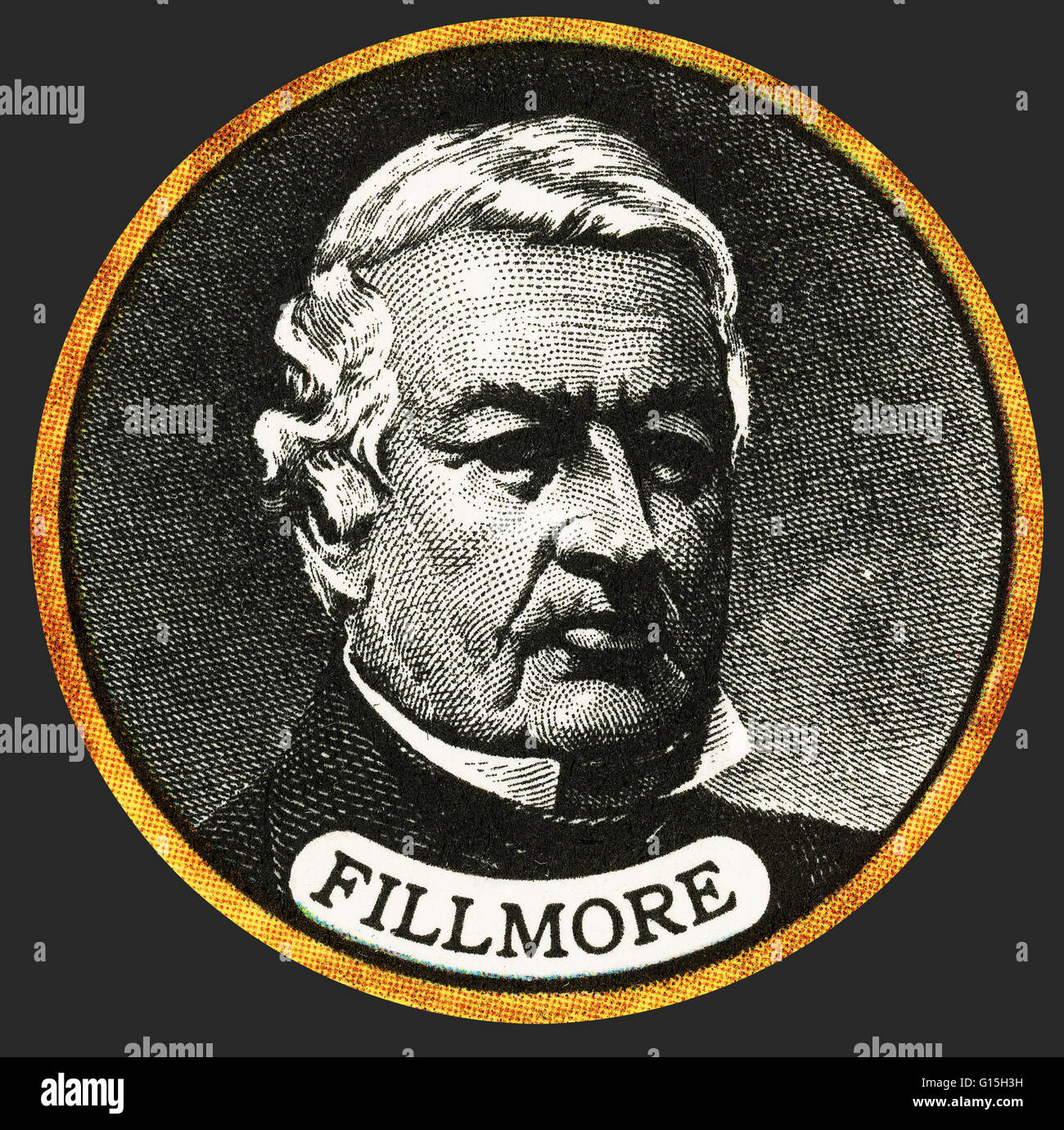 Millard Fillmore (January 7, 1800 - March 8, 1874) was the 13th President of the United States (1850-1853) and the Stock Photo