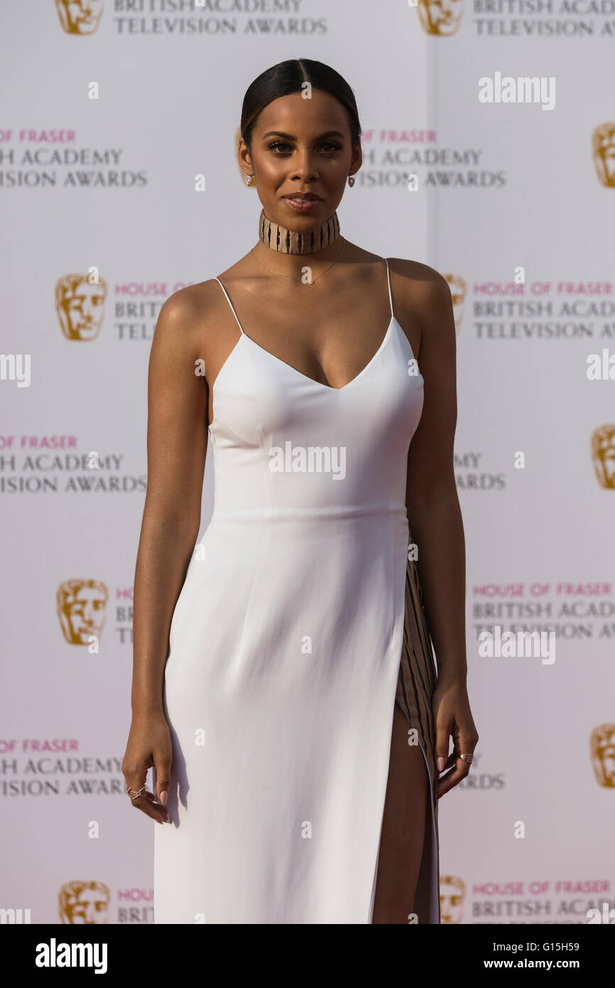 London, UK. 8 May 2016. Rochelle Humes. Red carpet  celebrity arrivals for the House Of Fraser British Academy Television - Stock Image