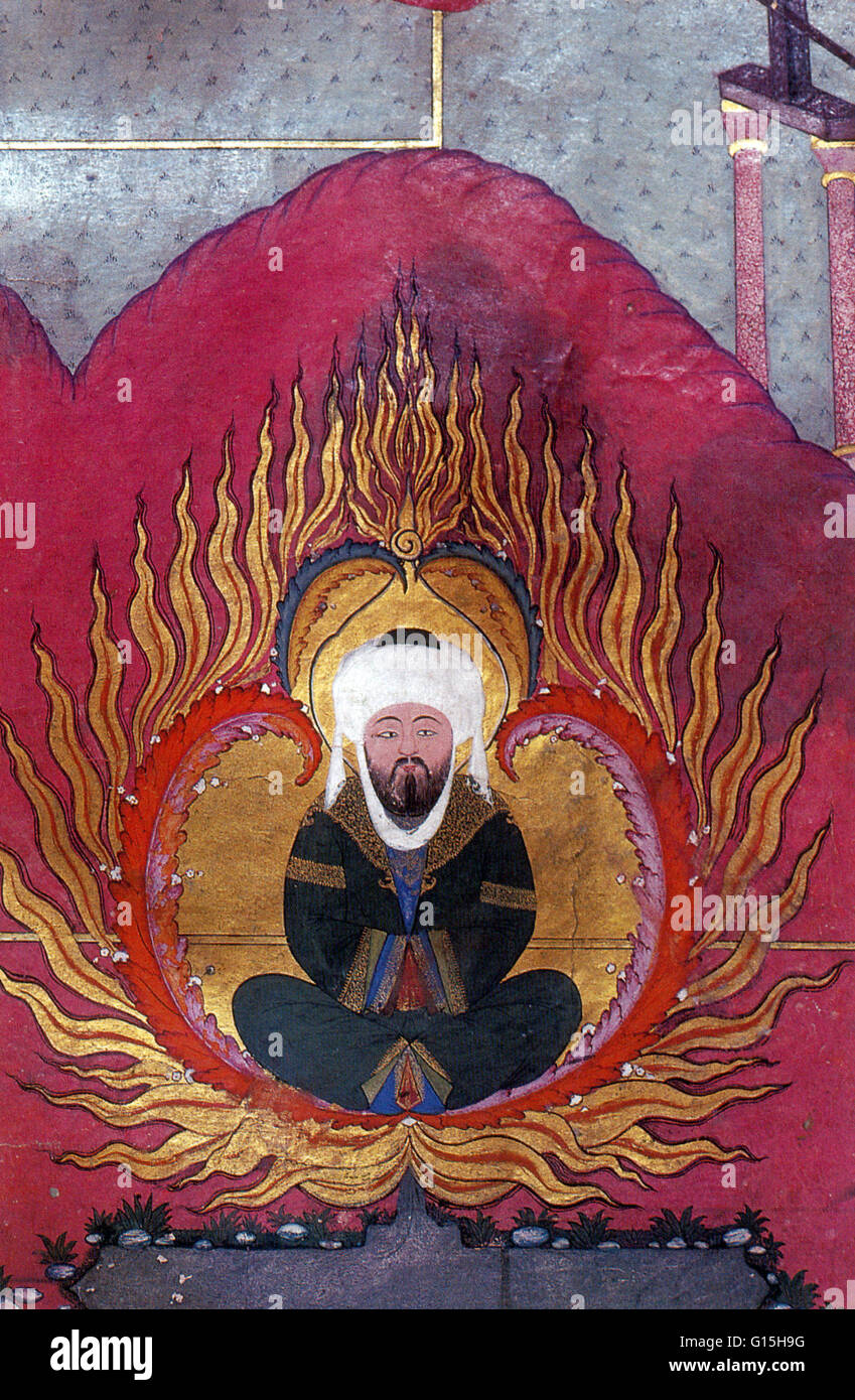 Ottoman miniature of Abraham, 1583. Abraham is a prophet of three  religions: Judaism, Christianity, and Islam. Muslims regard him as the  first Hanif, ...