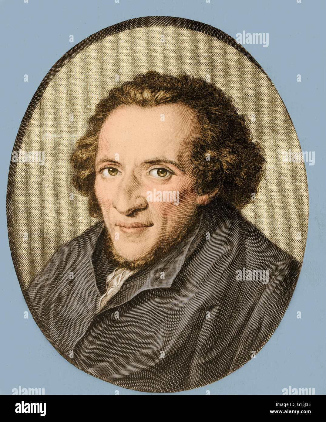 Moses Mendelssohn (1729-86), a German Jewish philosopher and theological writer. He ushered in the movement called - Stock Image