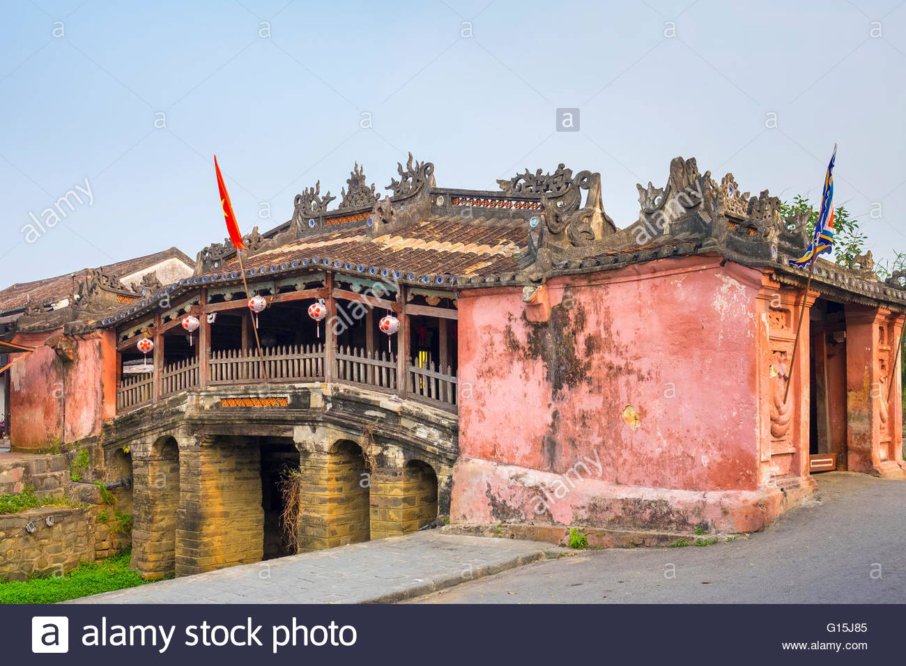 Japanese Covered Bridge (Chua cau), Hoi An Ancient Town, UNESCO World Heritage Site, Quang Nam Province, Vietnam, - Stock Image