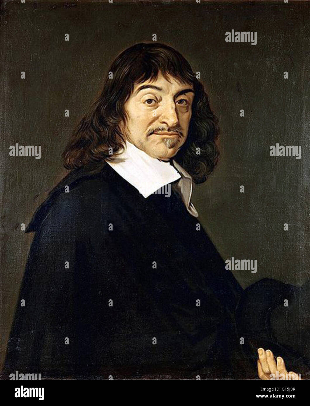 René Descartes (March 31, 1596 - February 11, 1650) was a French mathematician, philosopher and physiologist. Living Stock Photo