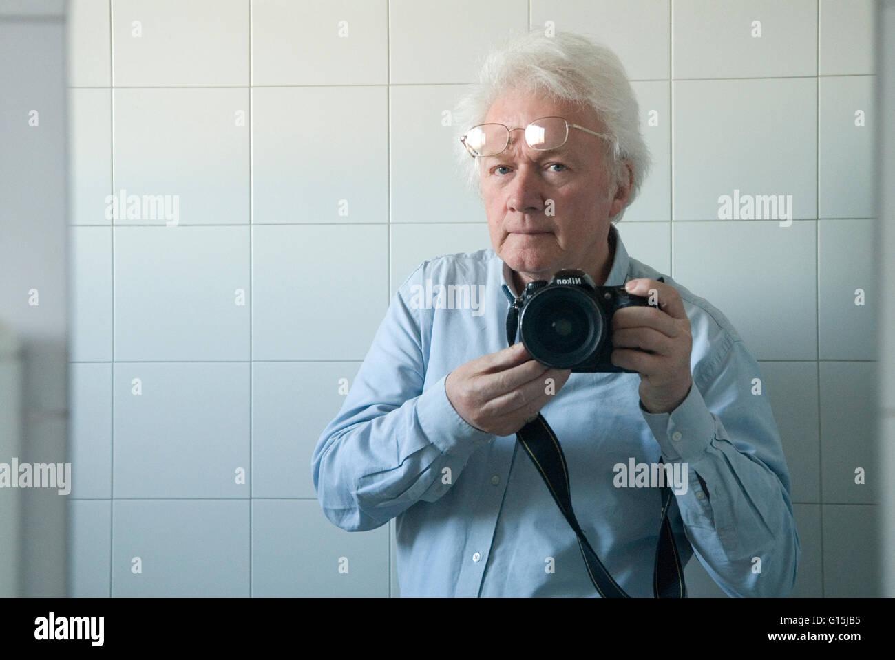 Homer Sykes photographer 2016 self portrait - Stock Image