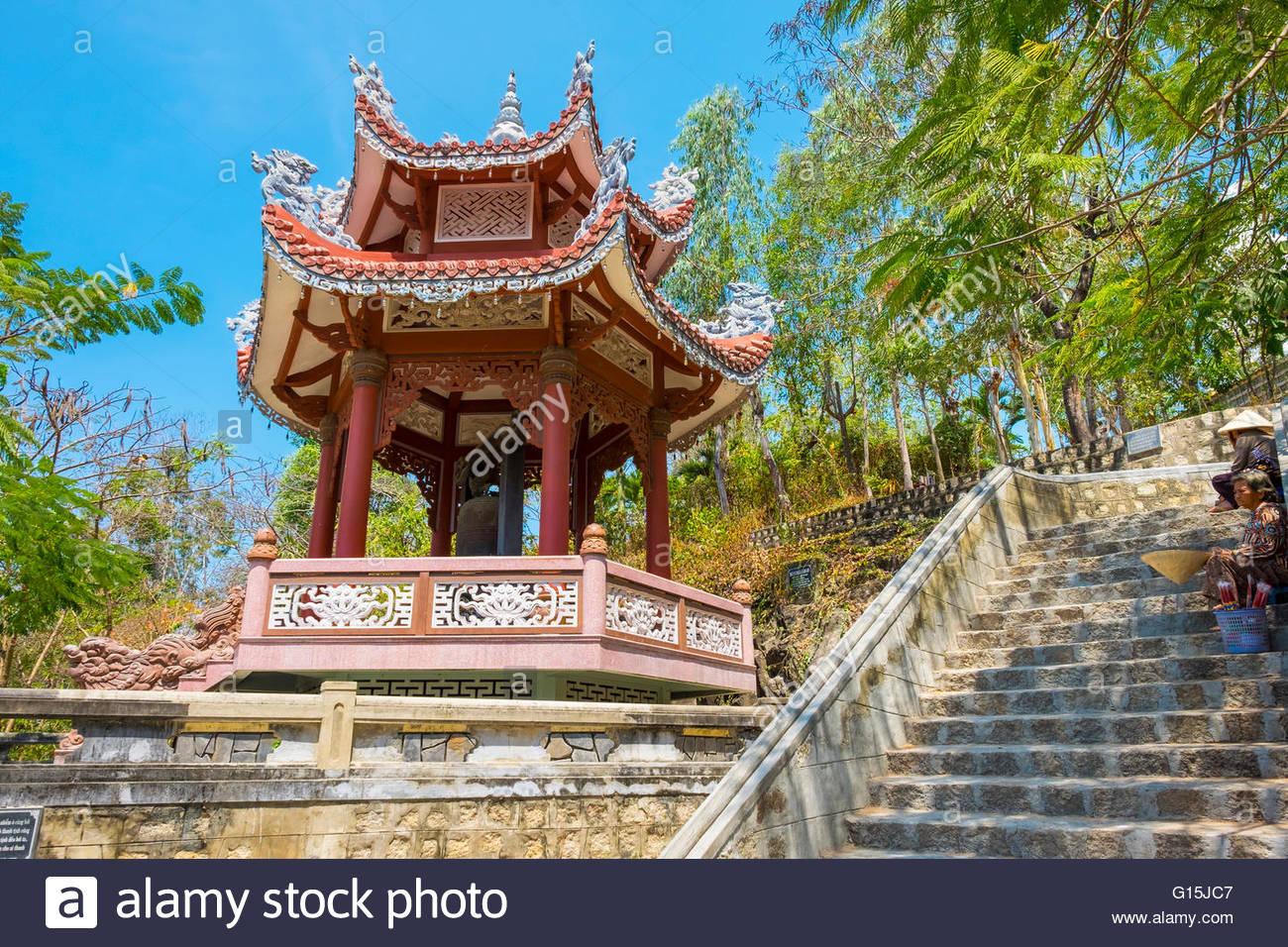 Small pagoda at Chua Long Son Buddhist temple, Nha Trang, Khanh Hoa Province, Vietnam, Indochina, Southeast Asia, Stock Photo