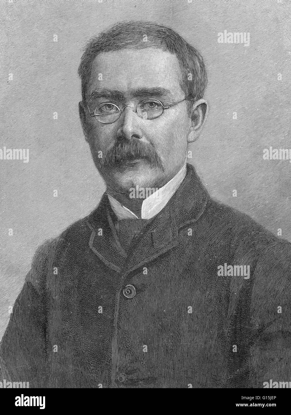 Joseph Rudyard Kipling (December 30 1865 - January 18, 1936) was an English short-story writer, poet, and novelist. Stock Photo