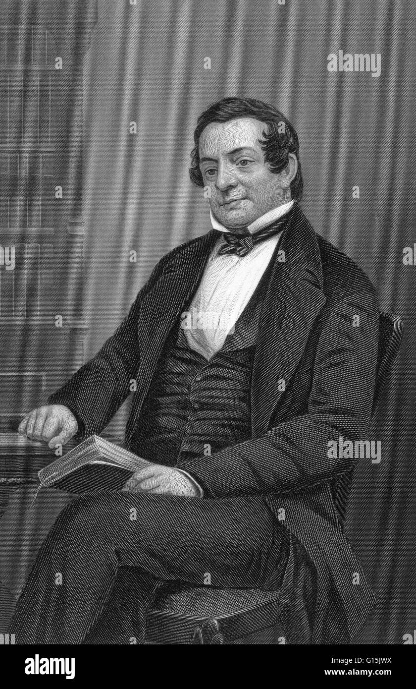 Washington Irving (1783-1859) was an American author, essayist, biographer and historian of the early 19th century. - Stock Image