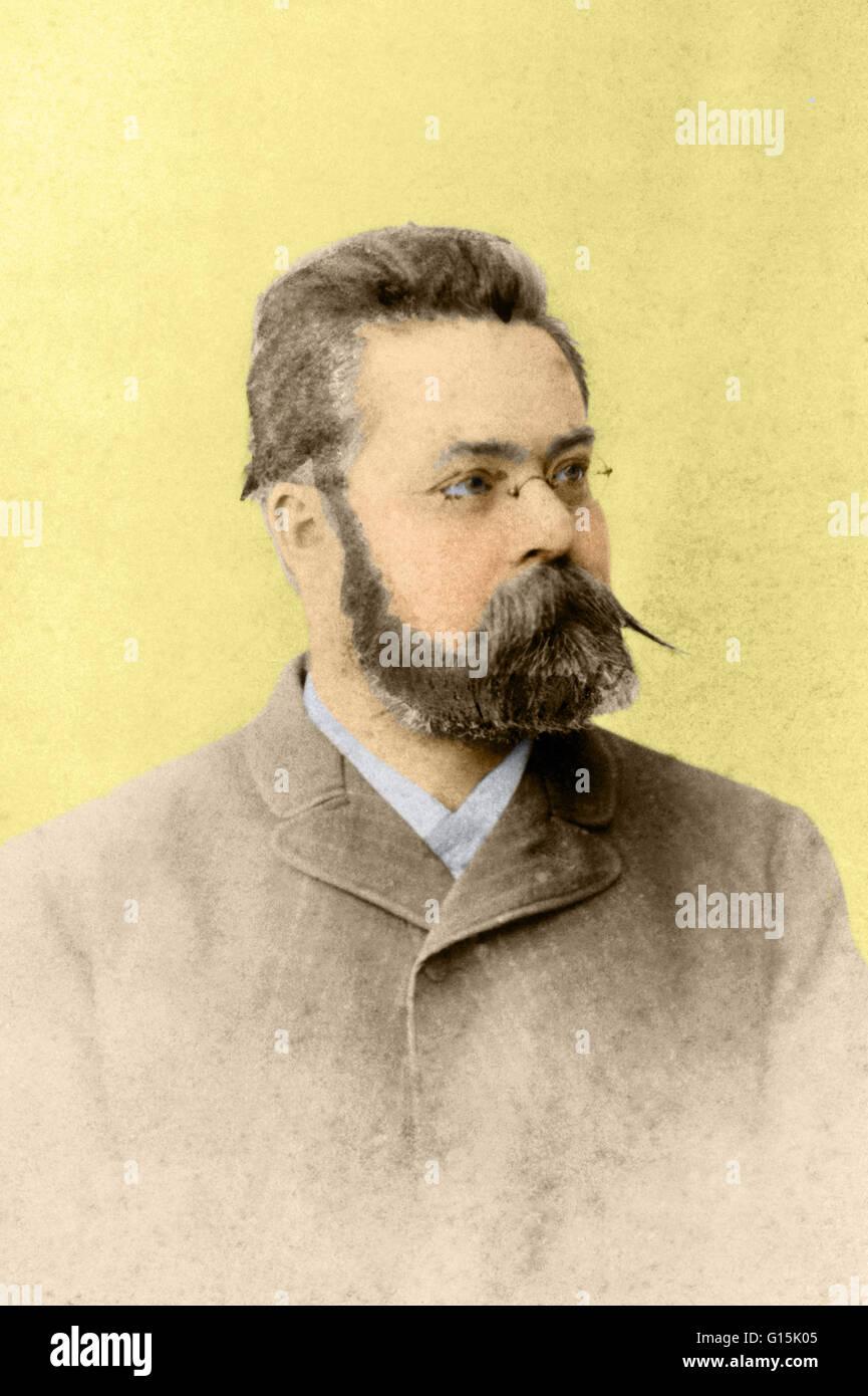 Color enhanced image of Alexander Karl Otto Westphal (1863-1941), German neurologist. Westphal was the son of the - Stock Image