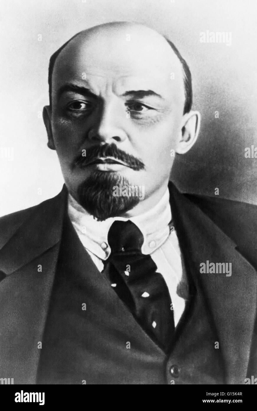 Vladimir Ilyich Lenin (April 22, 1870 - January 21, 1924) was a Russian Marxist revolutionary, communist politician, - Stock Image