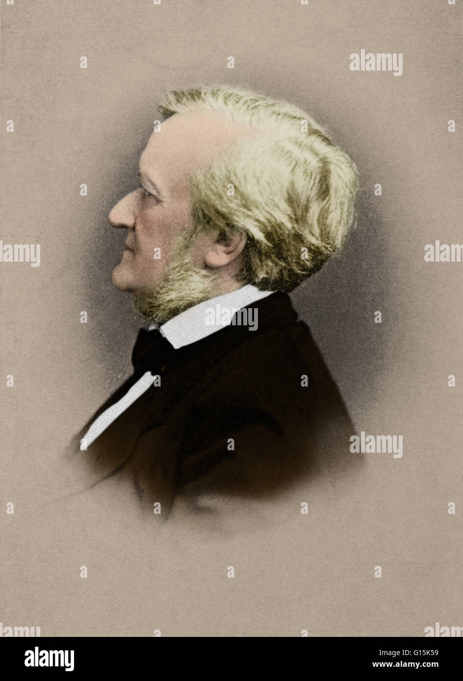 Wilhelm Richard Wagner (May 22, 1813 - February 13, 1883) was a German composer, theater director, polemicist, and - Stock Image