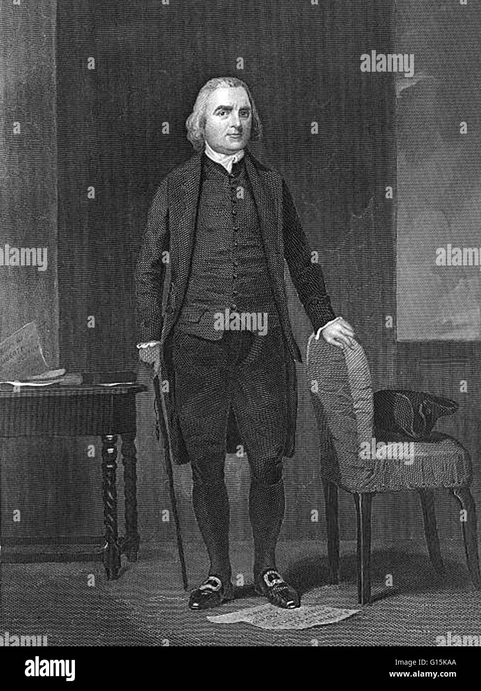 Samuel Adams (1722 -1803) was an American statesman, political philosopher,  and one of the Founding Fathers of the United States.