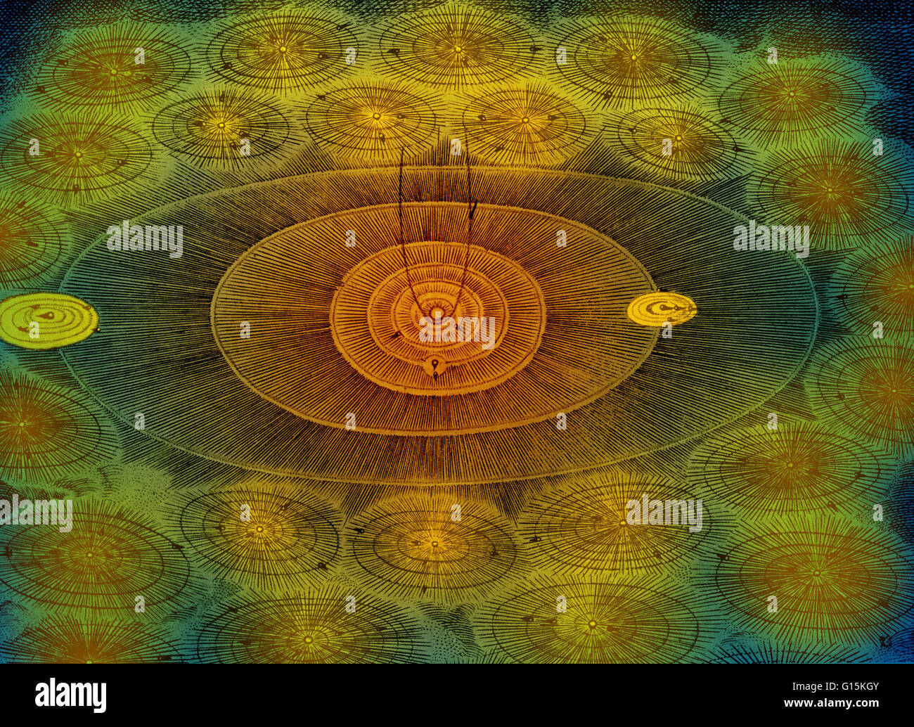 'The Supreme Being has created thousands of worlds, and not one resembles the other.' Voltaire's enlightened - Stock Image