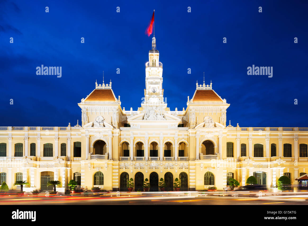 Hotel de Ville (City Hall), Ho Chi Minh City (Saigon), Vietnam, Indochina, Southeast Asia, Asia - Stock Image