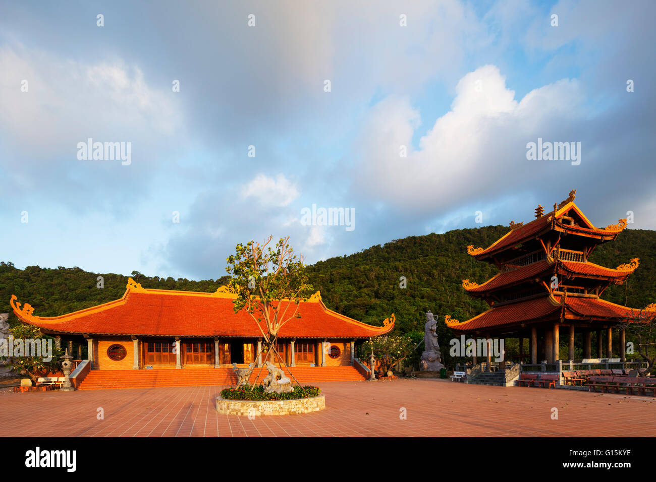 Thien Vien Truc Lam Ho temple, Phu Quoc Island, Vietnam, Indochina, Southeast Asia, Asia - Stock Image