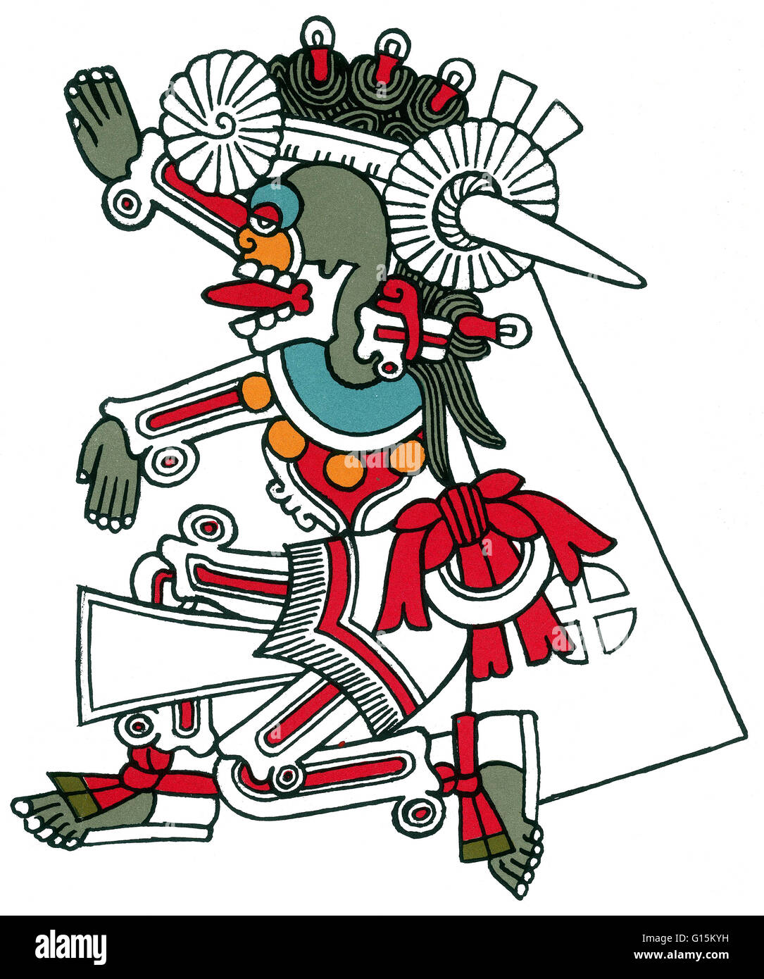 Mictlantecuhtli, in Aztec mythology, was a god of the dead and the king of Mictlan, the lowest and northernmost - Stock Image
