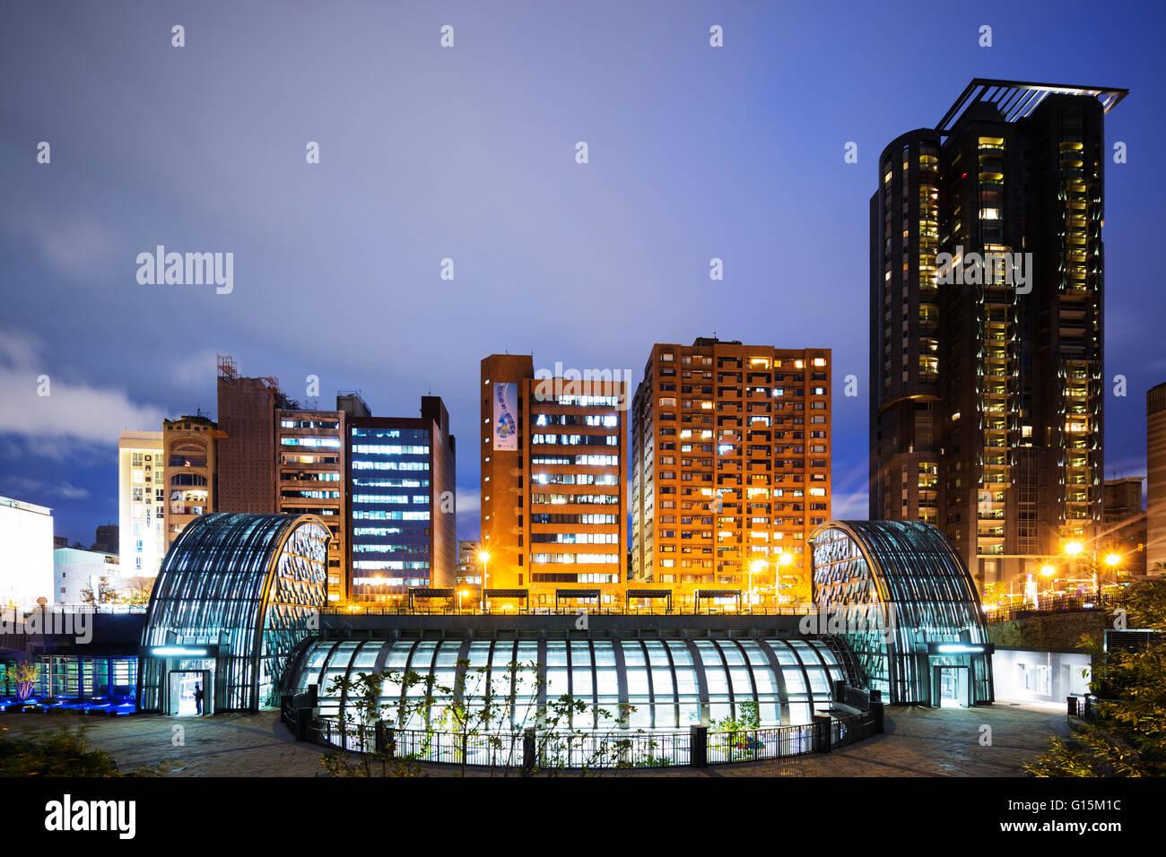 Daan Park subway station, Taipei, Taiwan, Asia - Stock Image
