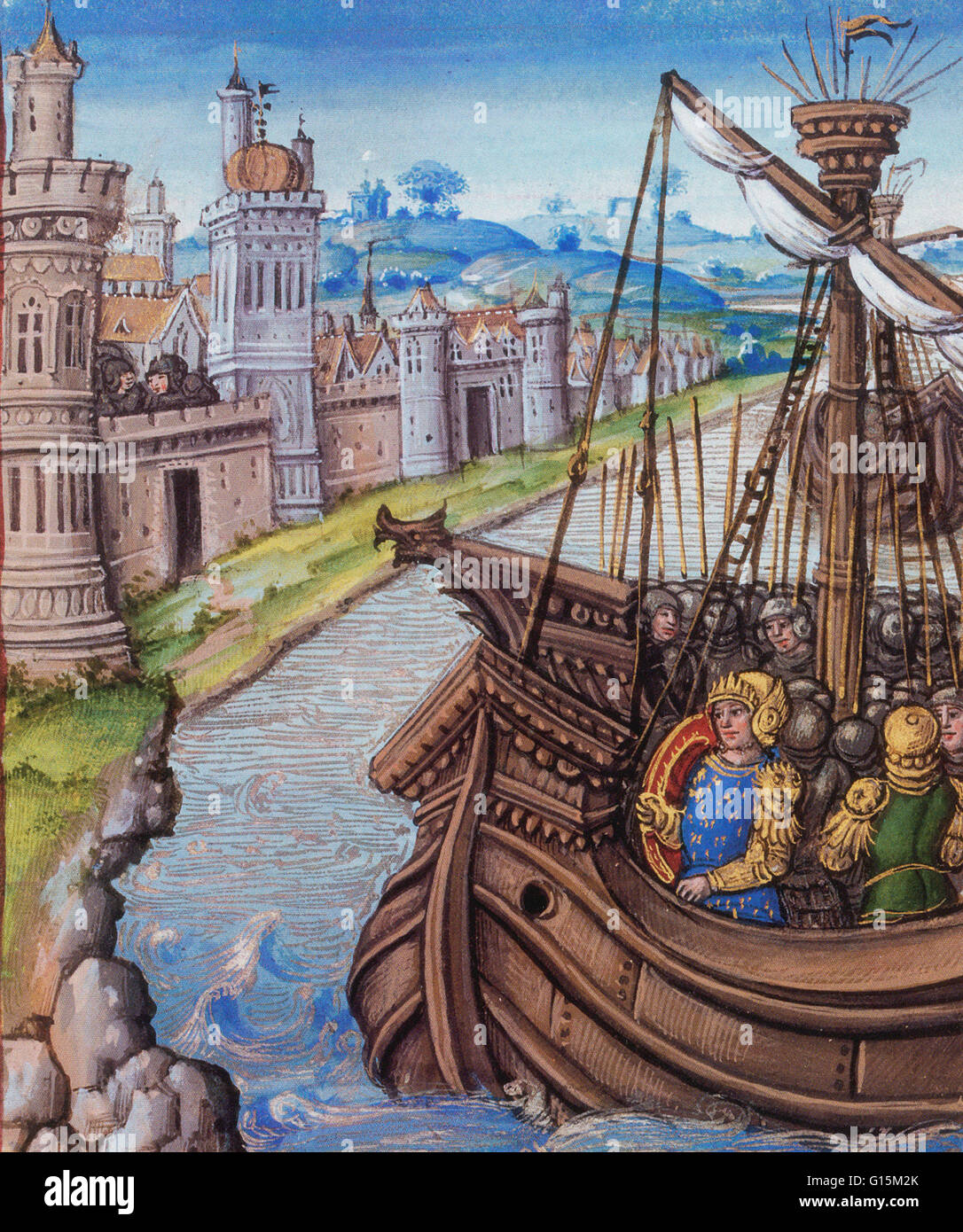 The Hundred Years' War was a series of conflicts waged from 1337 to 1453 between the Kingdom of England and - Stock Image