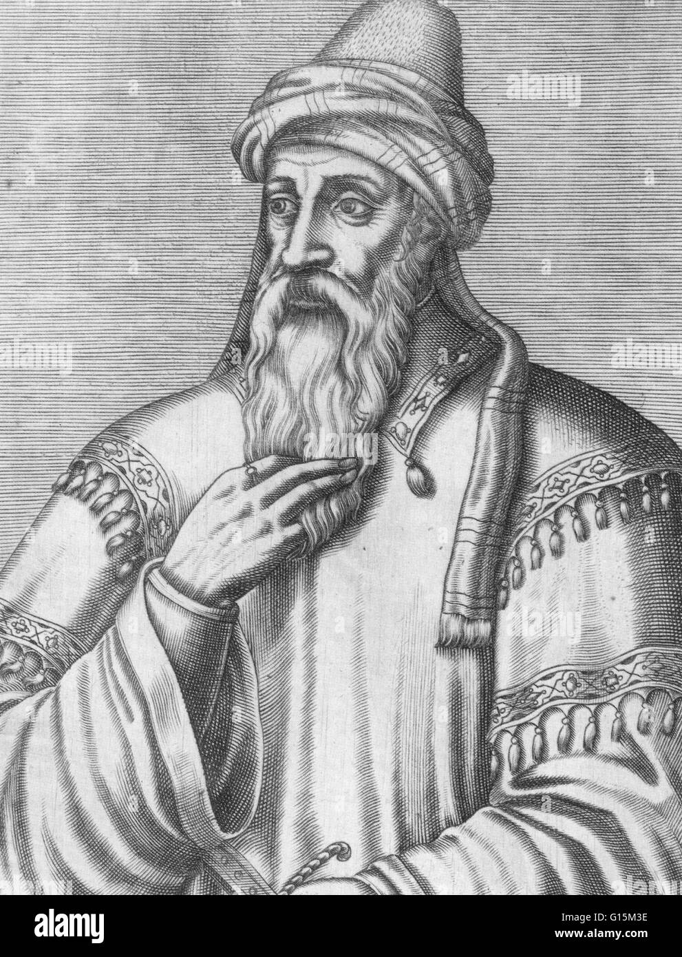 Salah ad-Din Yusuf ibn Ayyub (1138-1193) was a Kurdish Muslim, who became the first Sultan of Egypt and Syria, and - Stock Image