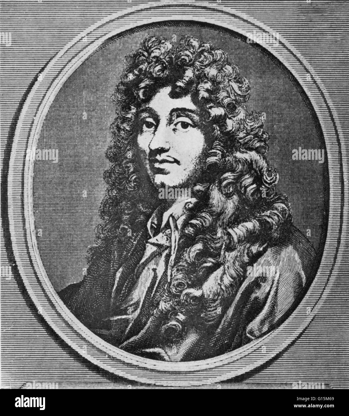 Christiaan Huygens, (1629-1695) a prominent Dutch mathematician, astronomer, physicist and horologist. His work - Stock Image