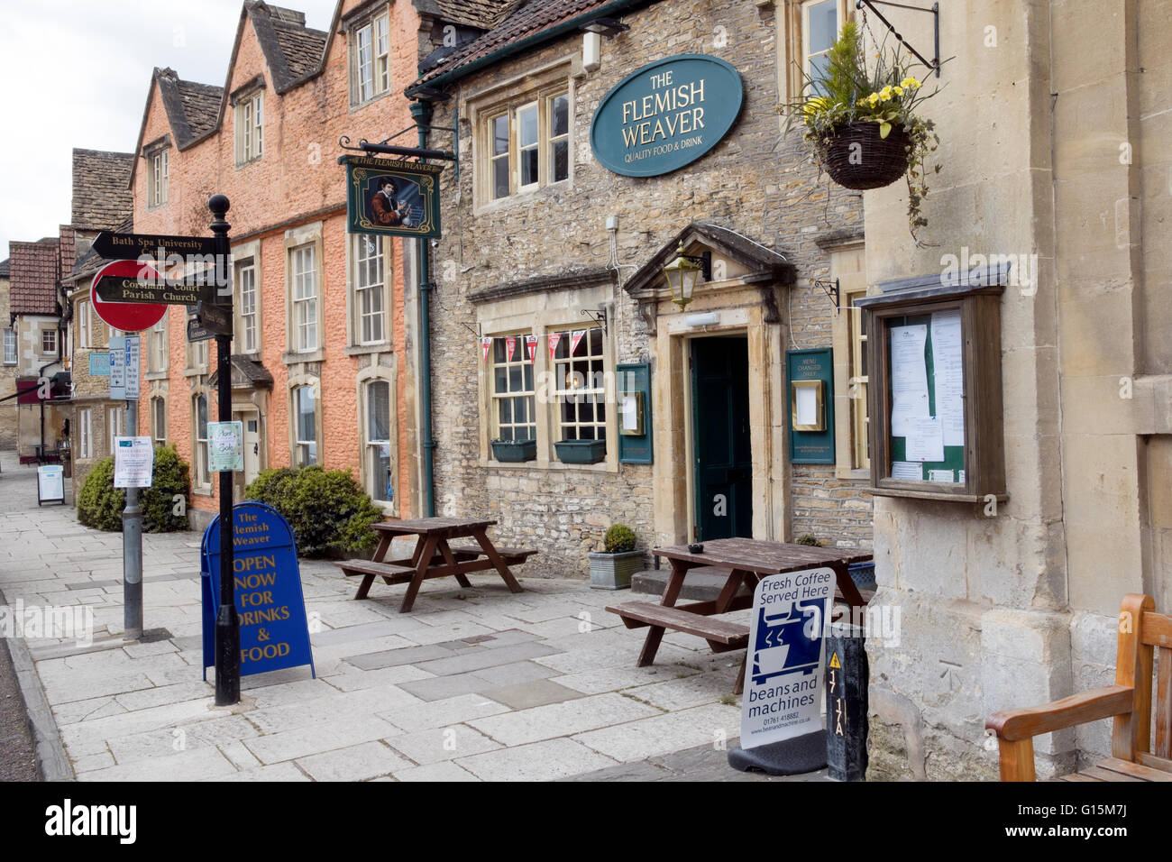 Historic town of Corsham in Wiltshire at the South-Western edge of the Cotswolds Stock Photo
