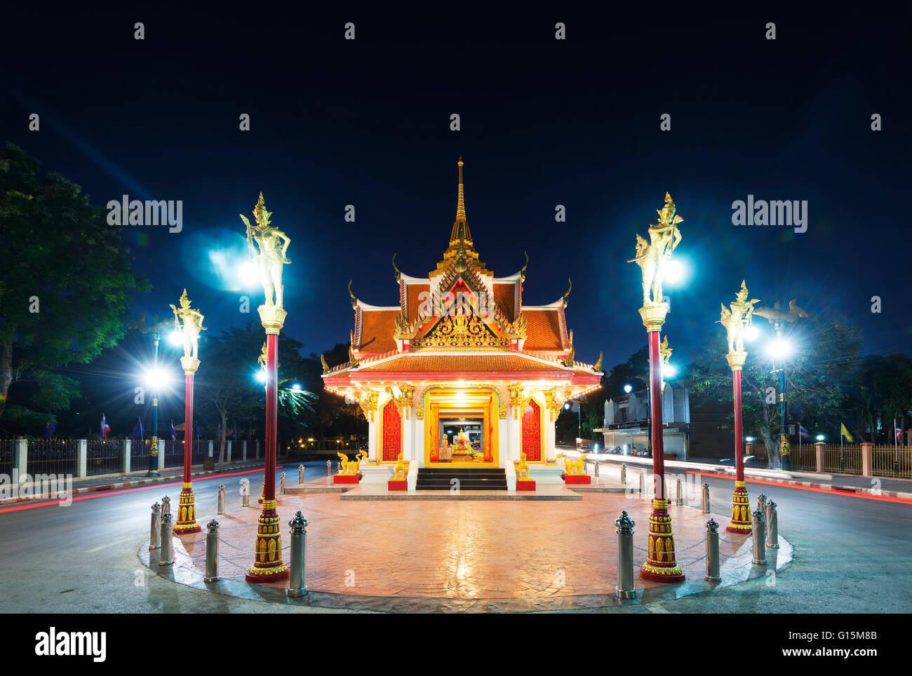City gate, Kanchanaburi, Thailand, Southeast Asia, Asia - Stock Image
