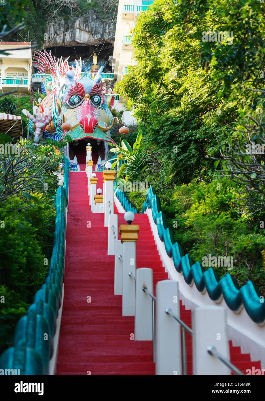 Wat Ban Tham (The Dragon temple), Kanchanaburi, Thailand, Southeast Asia, Asia - Stock Image