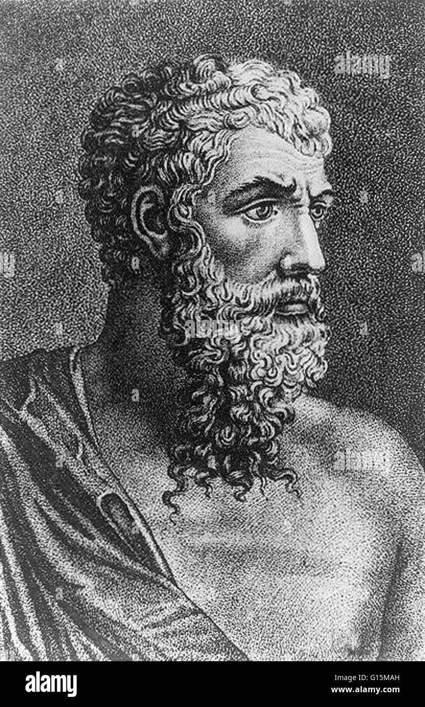 Aristophanes (446 BC - 386 BC) was a comic playwright of ancient Athens. Eleven of his 40 plays survive virtually - Stock Image